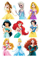Disney Princess characters set of decoration ICING WAFER edible cake topper A4