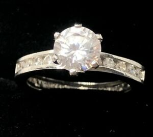 Vintage Ring Size 7.5 Signed Roman CZ Ch