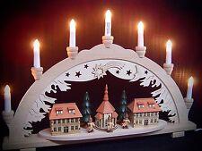 Arc à lumière à bougies 3D bénéficiant d'une église + 2 maisons Kurrende 57x38