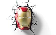 The Avengers 3D Nachtlicht Ironman's Kopf LED Lampe 3DLight Iron Man Head Marvel
