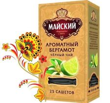 Maiskiy Chai Russian Tea Gold series - with fresh citrus notes 25 bags 50 gr