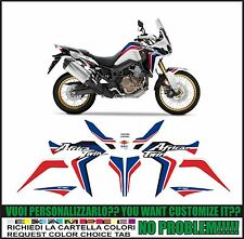 kit adesivi stickers compatibili africa twin crf 1000 L 2016 white blue red
