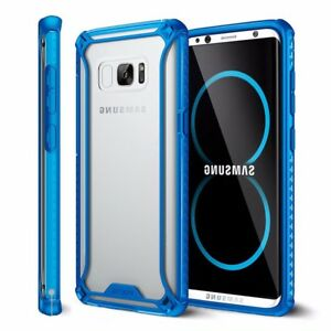 Poetic For Galaxy S8 Affinity Reinforced Corner Protector Bumper TPU Case Blue