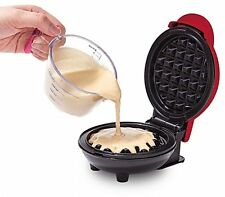 DASH Go Mini Nonstick Waffle Maker Kitchen Cooking Belgian Breakfast in Red NEW