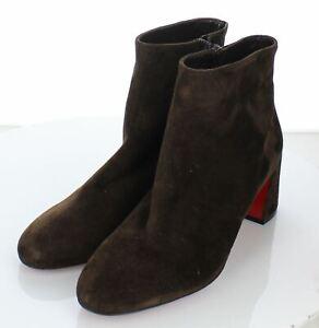 07-32 NEW $995 Women Sz 40 M Christian Louboutin Turela Leather Side-Zip Bootie