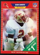 1989 Pro Set #486 Deion Sanders Rookie Card Mint & Centered