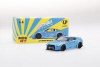 "Mini GT 1:64 Liberty Walk Works ""Sora"" Nissan GT-R R35 Type I Zero Fighter Blue"