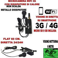 Micro Cameras Wifi 3G+ SD 8 GB Direct Video Night Vision Bug Live