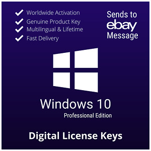 Window$10 Pro 32/64bit Key ✅ Lifetime Win 10 Pro Key 🔑 Genuine License ✅Instant