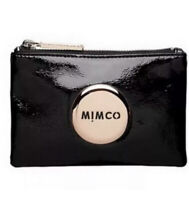 MIMCO Pouch Black Leather Small Wallet Purse Clutch RoseGold BNWT RRP$69.95 NEW