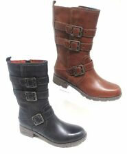 Mid-Calf Casual 100% Leather Boots for Women