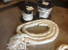 """2"""" SILICA WICK ROPE 20 FT 1.25"""") SQUARE BRAIDED (12 FT 2"""") WELDING CANADA $249"""