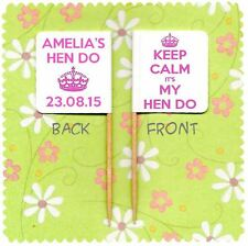 20 PERSONALISED HEN DO NIGHT PARTY CUP CAKE FLAG Pick Food Topper Keep Calm