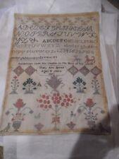 Mary Ann James Sampler Age 10 1867