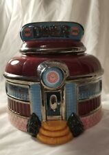 Diner Cookie Jar Old Time Container Ceramic