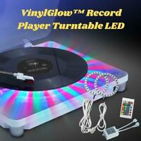 Vinyl Record Player Turntable With LED Light Modern Design Home Gift Y