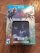 NEW Legend of Zelda: Twilight Princess HD Nintendo Wii U Wolf Link Amiibo Bundle