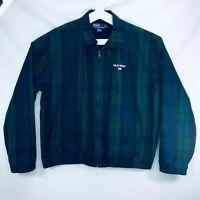 Ralph Lauren Polo Sport Jacket Tartan Plaid Blue Green Vintage Mens Size Large