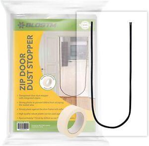 BLOSTM Zip Door Cover Dust Protector Plastic Curtain Home Renovation Barrier