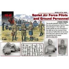 ICM 48084 Soviet Air Force Pilots & Ground Personnel 1/48 plastic scale figures