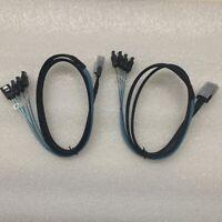 2PCS NEW SFF-8087 Mini SAS 36 to 4X SATA angled cable, Mini SAS to 4 Angled SATA