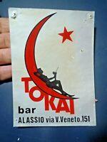 ADESIVO VINTAGE - BAR TOKAI ALASSIO -