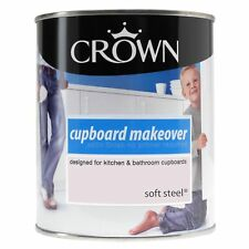 Crown Cupboard Makeover Paint Soft Steel 750ml