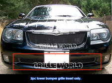 Fits 2004-2008 Chrysler Crossfire Lower Bumper Black Mesh Grille
