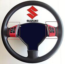 SUZUKI SWIFT (2005-2016) STEERING WHEEL SPOKE TRIMS (6 BUTTON)- SPORTS RED