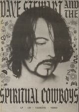 8/9/90 Pgn10 Advert: dave Stewart And The Spiritual Cowboys New Album 10x7