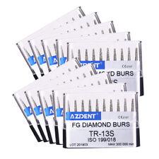 100Box Dental Diamond Handpiece Burs Abrade Crown Cavity Preparation Cone AZDENT
