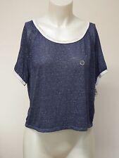 Crop Top T Shirt Cap Sleeve Blue Large Aeropostale Women Blouse