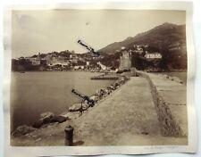 2 GRANDES PHOTOS albumen 1892 BOUGIE Béjaïa port fort falaises  ALGERIE