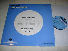 LIBRARY CHAPPELL The Johnny Burt Sound LIGHT AND SWEET *1974 VINYL LP*
