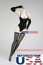 """1/6 Arm Warmers Sleeves Stockings Set For 12"""" PHICEN Hot Toys Female Figure USA"""