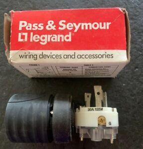 Pass & Seymour Legrand Turniok Plug L530-P  30A 125V 2P 3W Grounding Nema L5-30P