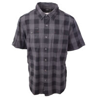 Harley-Davidson Men's Black Charcoal Box Plaid S/S Woven (S09)