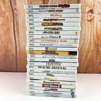 Lot of 24 Nintendo Wii Games Video Game Lot Big Most Are Complete CIB