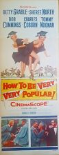 HOW TO BE VERY VERY POPULAR (1955) BETTY GRABLE GREAT ORIG 14X36 INSERT POSTER