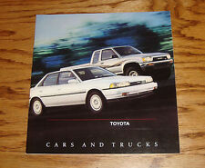 Original 1990 Toyota Car & Truck Full Line Sales Brochure 90 Supra MR2 4Runner