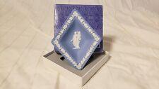 Vintage Wedgwood Blue Jasperware Diamond Shaped Bowl England
