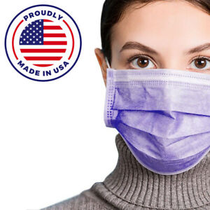MADE IN USA Face Mask Mouth 50 PCS & Nose Protector Respirator Masks with Filter