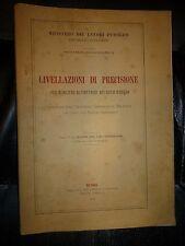 LIVELLAZIONI DI PRECISIONE fascicolo IV Bacino del Liri - Garigliano Roma 1923