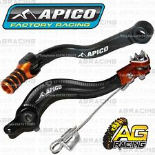 Apico Black Orange Rear Brake & Gear Pedal Lever Shifter For KTM EXC-F 250 2010