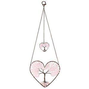 Handmade Stone Tree of Life Wall Hanging Window Ornament Valentines Gift Chakra