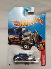 Hot Wheels 2017 '32 Ford (Blue) HW Flames #6/10 Collection #223/365 Long Card