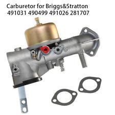 Carburetor Carb For Briggs And Stratton 491031 490499 491026 &281707 12HP Engine