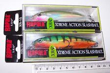RAPALA FISHING LURES X-RAP, XR-10, PAIR. HOLOGRAPHIC, SLASHBAITS,  Barra.
