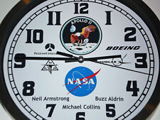 Apollo 11, First Man on The Moon, Armstrong, Collins, Aldrin, Wall Clock