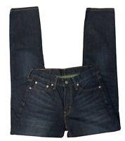 Levi's 511 Jeans Unisex Size 30 x 32 Blue Slim Skinny Fit Stretch Dark Wash